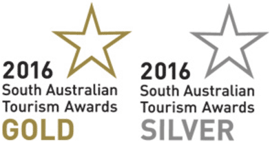 2016 South Australian Tourism Awards Gold and Silver